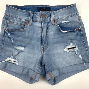 Aeropostale Flex Effects High Waisted Jean Shorts